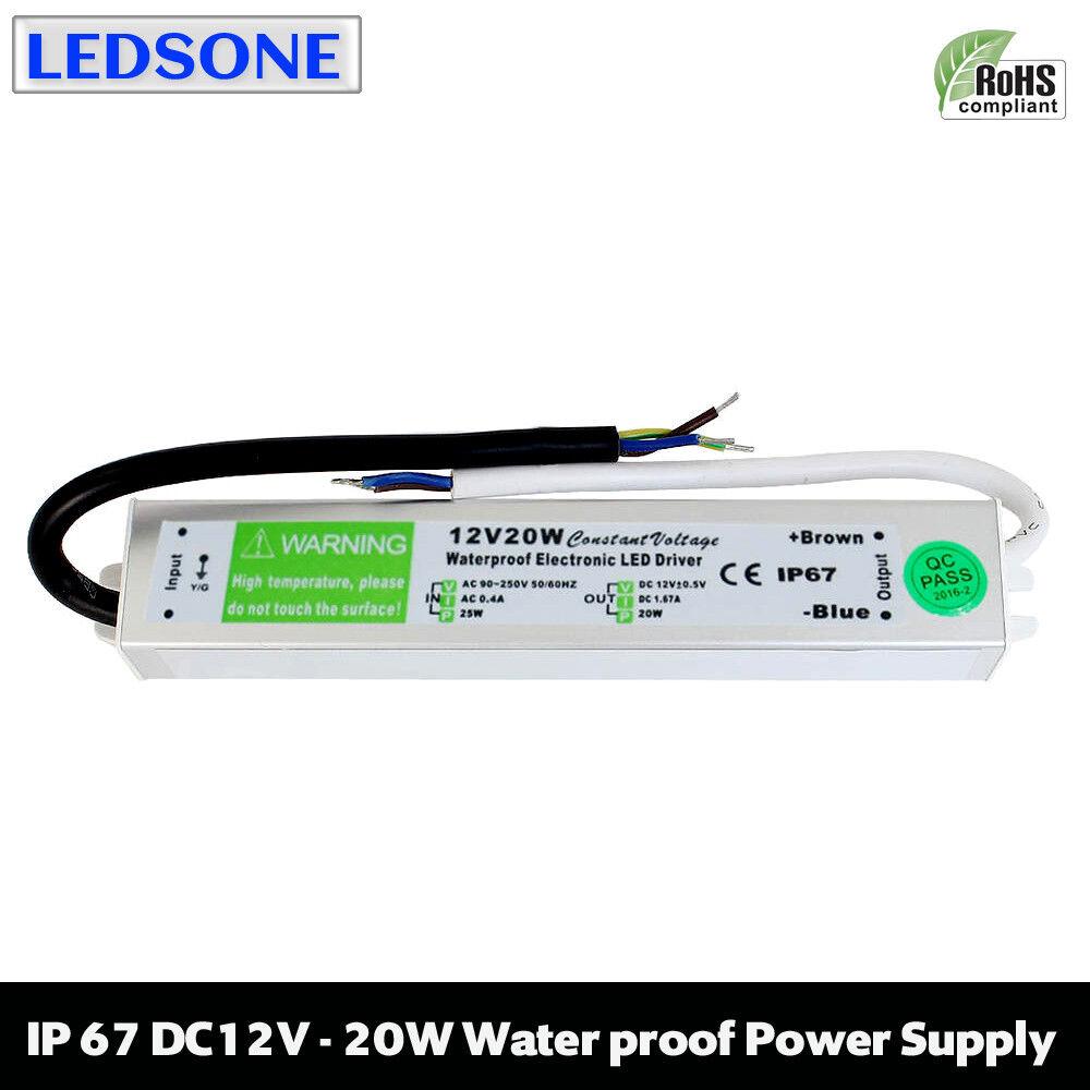 15W - 300W IP67 impermeabile LED Driver Driver Driver Alimentatore Trasformatore per Strip DC12V 0054cf