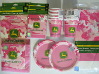 John Deere Pink - Birthday Party Supplies Set Pack For 16 Deluxe Kit