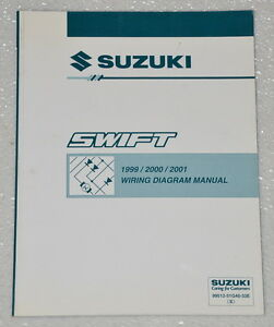 1999 2000 2001 suzuki swift factory electrical wiring. Black Bedroom Furniture Sets. Home Design Ideas