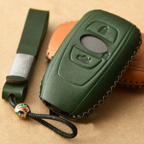 Leather Remote Smart Key Fob Case Cover For Subaru Forester Outback Legacy XV