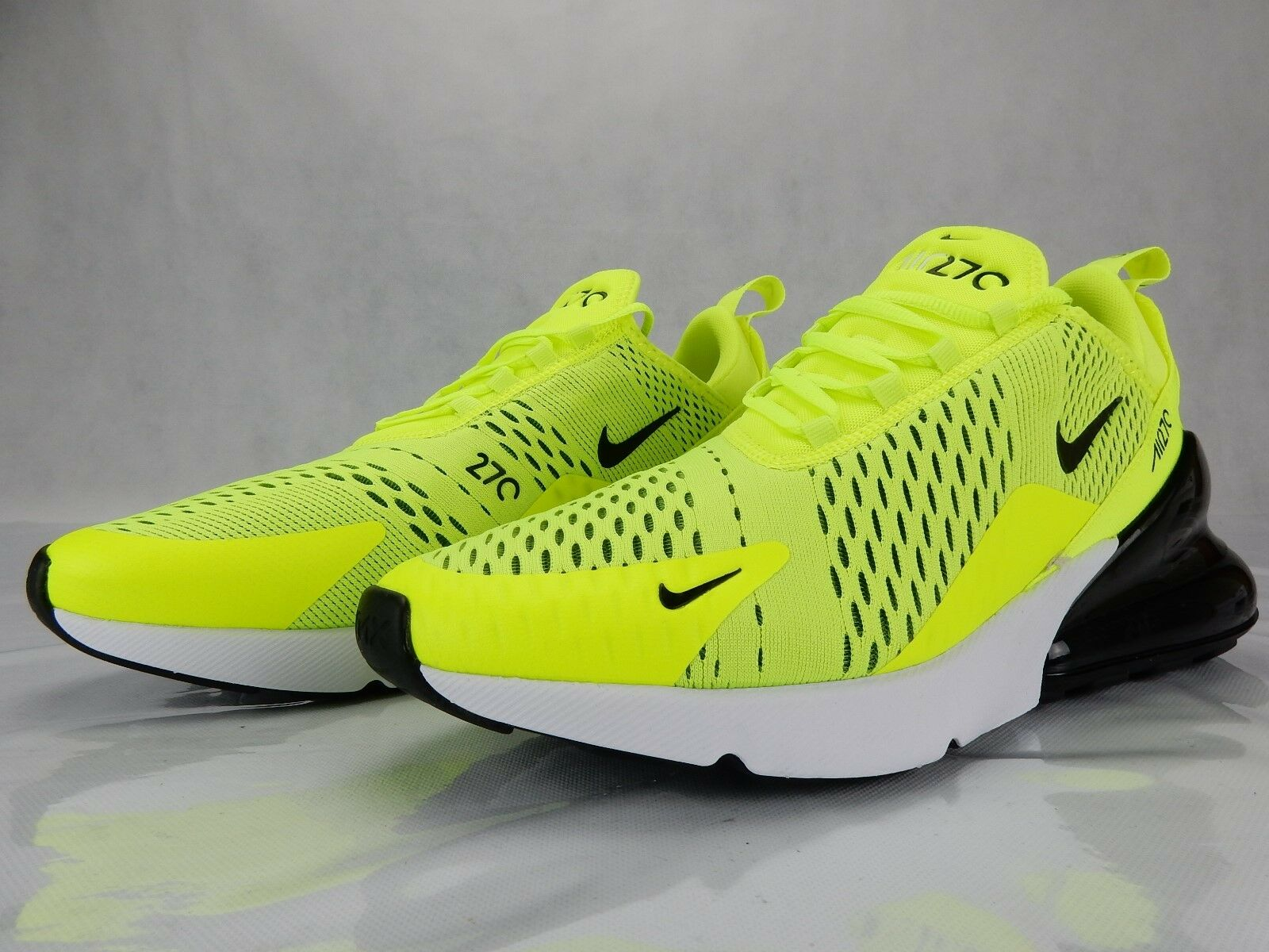 Nike Air Max 270 Volt Black White AH8050 701 New Mens shoes S Size 9.5 Sneakers