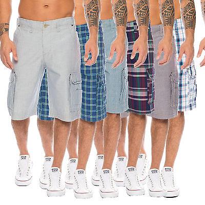 Shorts Hommes: Vêtements Kind-Hearted Rock Creek Homme Bermuda Été De Courts Métrages Pantalon Capri à Carreaux Cargo