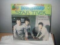 "RARE VINTAGE STAR TREK 12"" 33 1/3 LP RECORD & BOOK 1979 KIRK SPOCK & CREW  NEW"