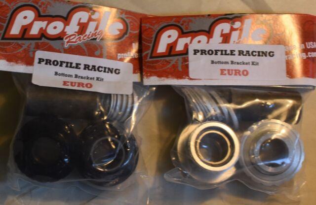 no Spindle Profile Racing Euro Internal Bottom Bracket Set Black