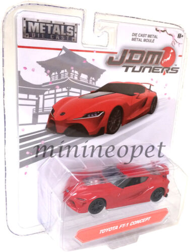 JADA JDM TUNERS 14036 TOYOTA FT-1 CONCEPT 1//64 DIECAST MODEL CAR RED