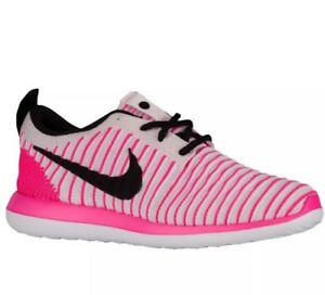 5e4d5cffa564 NIKE Roshe Two 2 Flyknit 844620 600 Girls Youth Running Shoes Size ...