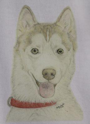 Dog Dogs Pet Sibe Ages 3 to 12 SIBERIAN HUSKY KIDS T-SHIRT