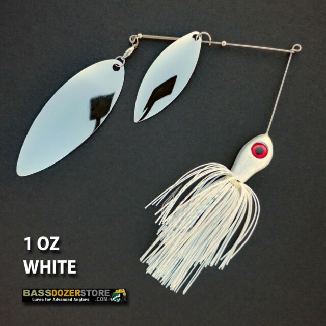 Bassdozer spinnerbaits BIG WILLOW DOUBLE 1 oz D. WHITE spinnerbait spinner baits