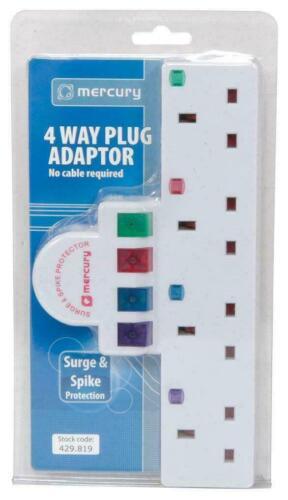 Plug-in 4 Way Adaptateur secteur avec protection contre la surtension