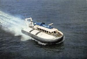 Postcard-Seaspeed-Hovercraft-SRN-6-British-Rail-Cowes-Southampton-Portsmouth-BL1
