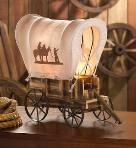 Image Is Loading Covered Wagon Western Style Table Lamp