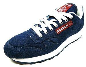 Reebok-CL-DENIM-II-Mens-Shoes-1-73827-Canvas-Sneakers-Blue-Casual-Dead-Stock