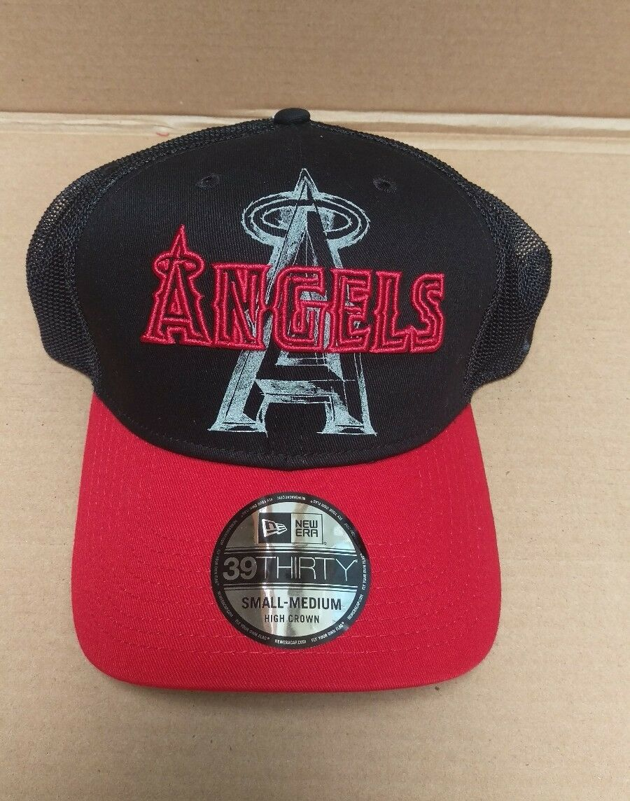 be4aeb4141a6d3 ... good los angeles angels oakley anaheim mens black baseball hat cap mens  size s m new bb430e