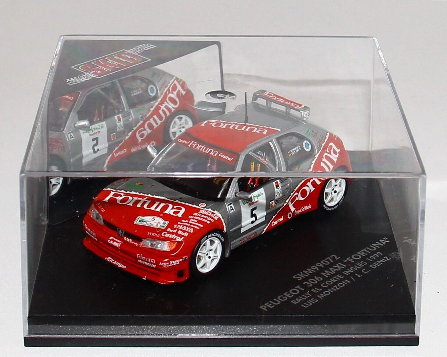 1 43 Vitesse SKM99076 Peugeot 306 Maxi Rallye El Corte Ingles 1999 Monzon