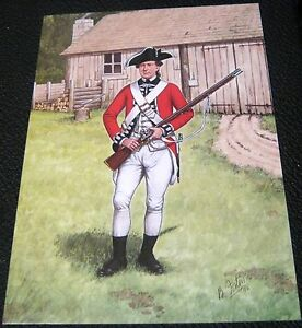 Militaria-Postcard-The-Scots-Guard-3rd-Foot-Guards-1777-Bryan-Fosten-used