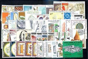 Le-Mexique-des-annees-1981-2-32-jeux-complets-incompletes-neuf-sans-charniere