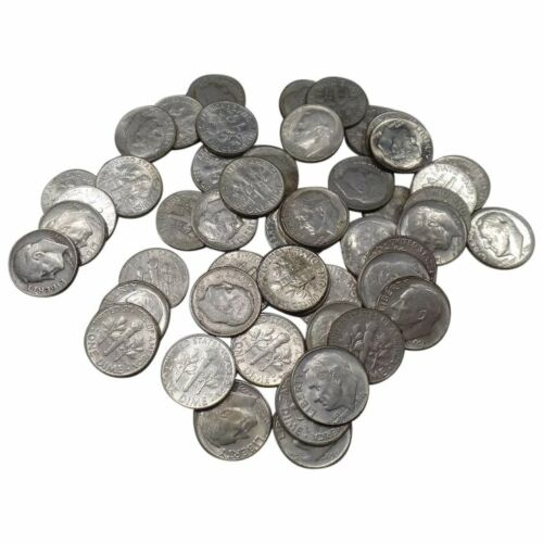 Circulated 90/% Silver Coin Lot Choose How Many 50 Roosevelt Dimes ONE ROLL