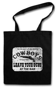 COWBOYS SAFETY SIGN EINKAUFSTASCHE Cowgirl USA US Western Country Fun