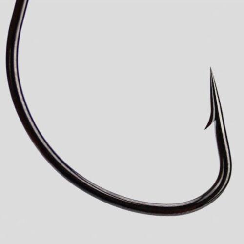 50Pcs Wurm Haken mit Box Schwarz Nickel High Carbon Stahl Köder Jig Fisch Haken