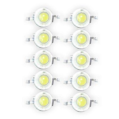 Lot of 50 1W Cool White High Power Super Bright LED Light 1 Watt Lamp Bulb Chip