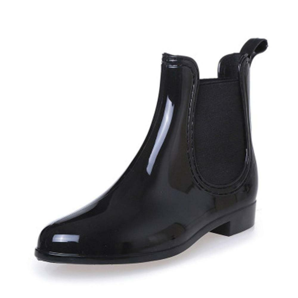 SAGUARO Womens Wellington Ankle Boots Ladies Wellies Rain Chelsea shoes