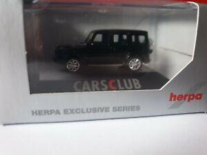 Herpa-MB-G-clase-lt-lt-HCC-Cars-Club-negro-gt-gt-Alu-negro-932585