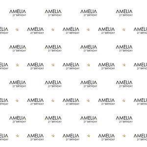 Amazing-034-Oscars-Style-034-Custom-name-age-backdrop-birthday-vinyl-size-6ft-x-6ft