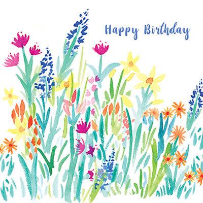 Joyeux anniversaire printemps Meadows Carte de vœux pour Royal Trinity Hospice de charité