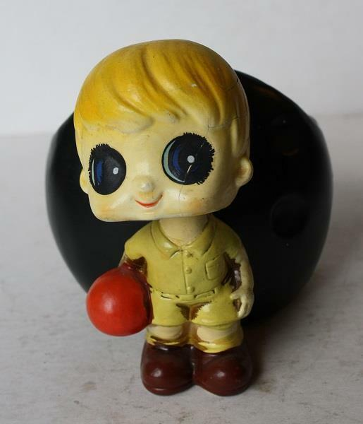 Bowling Boy Figure Planter Bobble Head Nodder-Bobbin Head-BOY Composite-Vintage