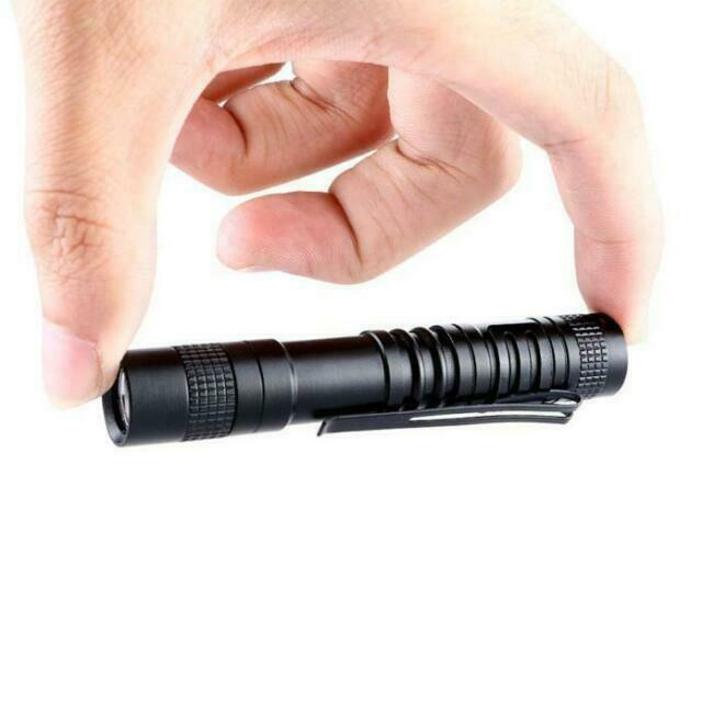 XPE-R3 LED 1000Lumens Lamp Mini AAA Penlight Flashlight Torch Pocket Light Black