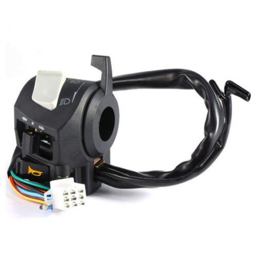 Dual Handlebar Motorcycle Control Universal Switch Light Indicators Choke Lever