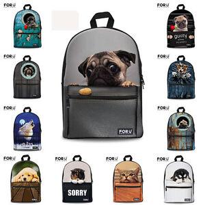 Kids School Bag for Boys Girls Animal Backpack Women Travel Rucksack Knapsack