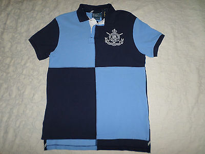 POLO RALPH LAUREN CUSTOM FIT POLO T-SHIRT MENS SIZE L MULTI-COLOR NEW WITH TAGS
