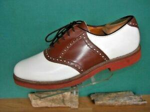 Vintage-Men-039-s-Walkover-Brown-amp-white-Saddle-Shoes-10-D-US-made