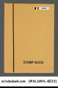COLLECTION-OF-BELGIUM-USED-STAMPS-IN-SMALL-STOCK-BOOK-160-USED-STAMPS