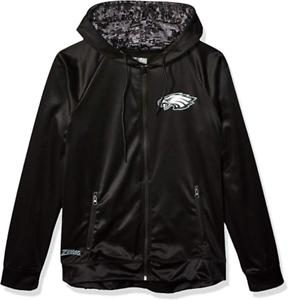 Zubaz NFL Men/'s Philadelphia Eagles Full Zip Digital Camo Hood Hoodie Black