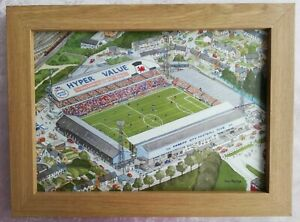 Cardiff City Football Club - Watercolour Painting - Tony Paultyn