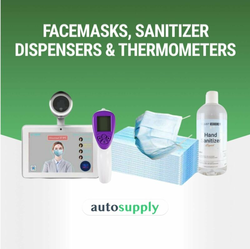 PPE (Facemasks, Sanitizer Dispensers & Thermometers) - Sell Out Special   AutoSupply.co.za