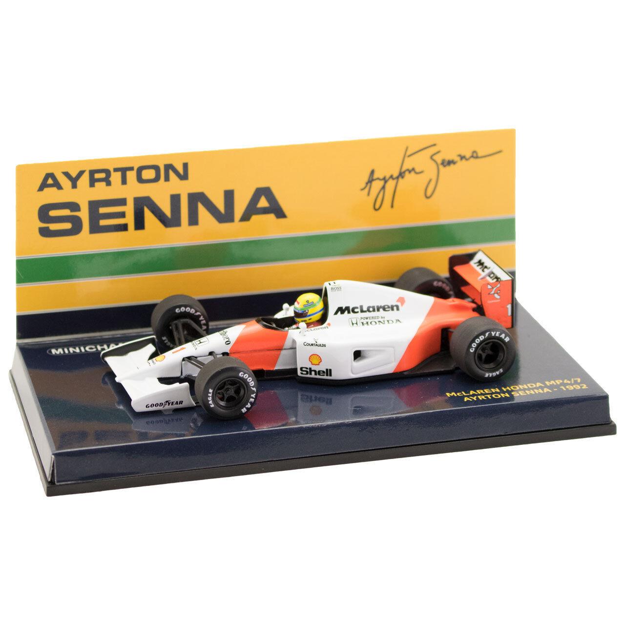 Célébrez les voeux du Nouvel An Ayrton Senna McLaren Honda Mp 4/7 1:43 | D'ornement