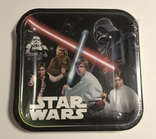 Star Wars Classic Large Paper Plates Set Of 8 Dinner Plate 9 Inch Birthday Party