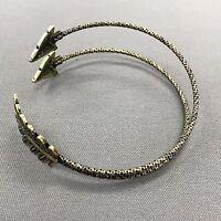 Bohemian Antique Gold Metal Arrow Design Open Adjustable Arm Cuff Bracelet