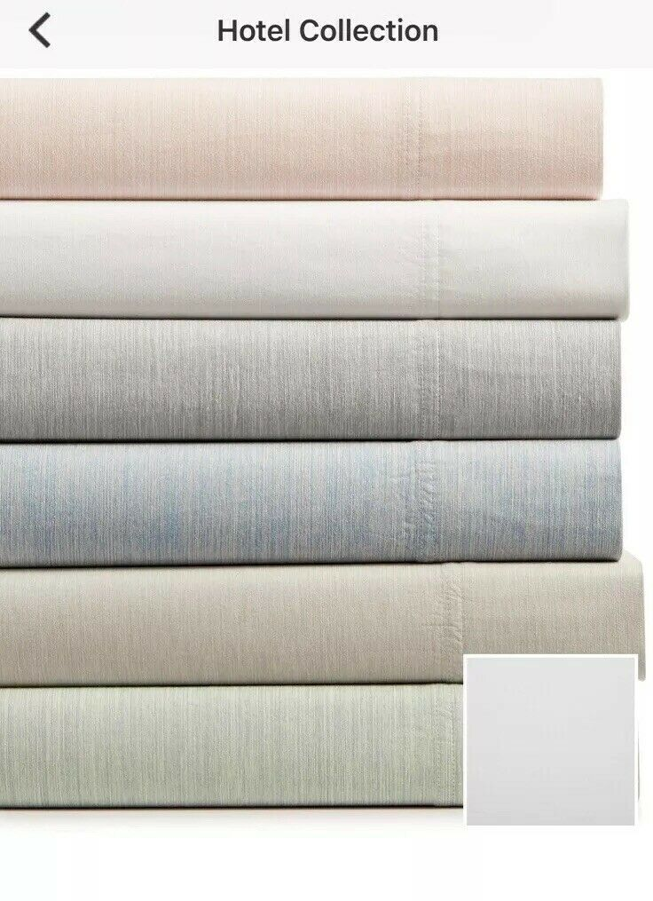 New Hotel Collection 525 Thread Count 3-Pc 100%Cotton Twin Sheet Set Retail  215