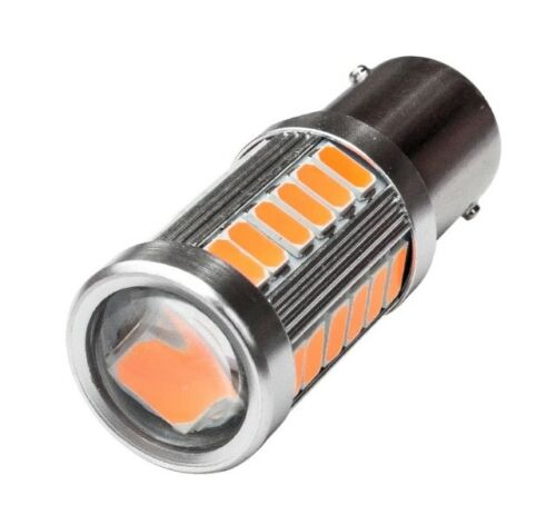 Ampoules LED Can Bus P21W BAU15S Orange 1156 33 Smd. Clignotants Ambre