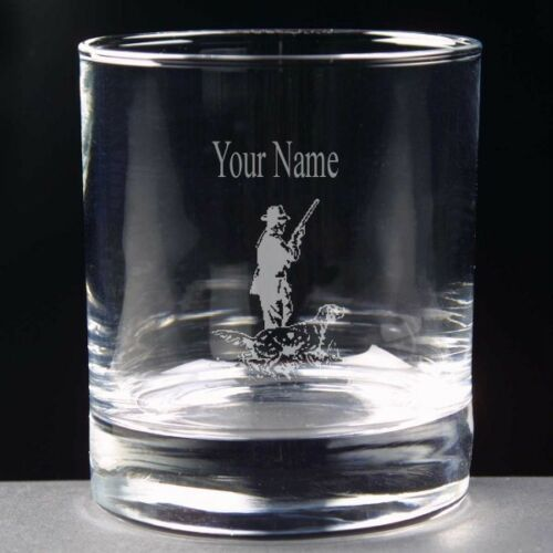 Personalised SHOOTING Whisky Juice Glass 10oz or Hi Ball FREE ENGRAVING New Gift