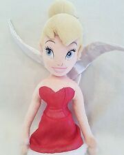 Disney Store Tinkerbell Plush Soft Toy Doll,  Red Dress, Tink and Fairies 22""
