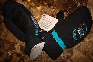 CHARLOTTE HORNETS VIN CHILDS THINSULATE INSULATED GLOVES MITTENS SKI WATERPROOF