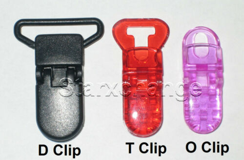 LARGER SIZE 22 BABY PACIFIER BADGE T CLIPS BIB HOLDER