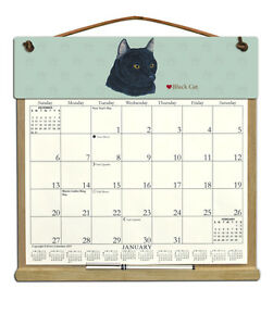 Cat Calendar 2022.Black Cat Calendar Filled With 2021 And Includes An Order Form For 2022 Ebay
