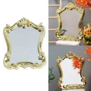Dollhouse-Miniature-Mirror-Royal-Wedding-Gold-Frame-1-12-B3J3