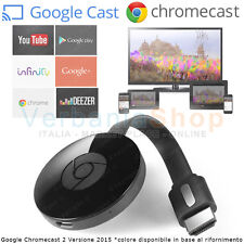GOOGLE CHROMECAST 2 ver. 2015 HDMI STREAMING MEDIA PLAYER YOUTUBE INFINITY WiFi